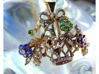 ジャルディネッティの5種宝石使用(鑑定書付)【商品番号4362】c