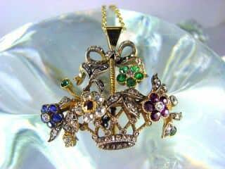 ジャルディネッティの5種宝石使用(鑑定書付)【商品番号4362】e