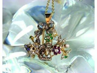 ジャルディネッティの5種宝石使用(鑑定書付)【商品番号4362】f