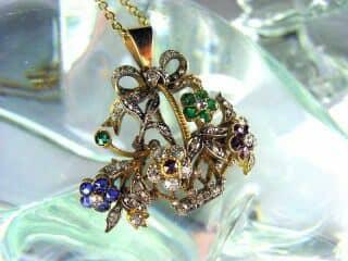 ジャルディネッティの5種宝石使用(鑑定書付)【商品番号4362】g
