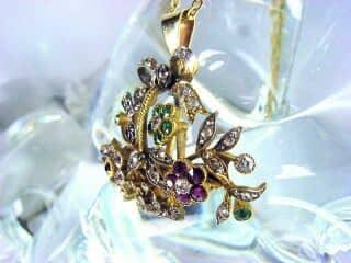 ジャルディネッティの5種宝石使用(鑑定書付)【商品番号4362】h