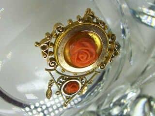 地中海珊瑚で薔薇モチーフ【商品番号837c】d
