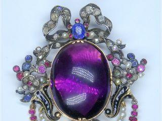 6種の宝石使用(鑑定書付)【商品番号p51】c