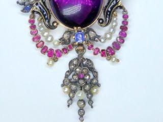6種の宝石使用(鑑定書付)【商品番号p51】f