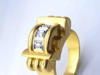 3石ダイヤ使用,18wg&yg【商品番号1109a】g