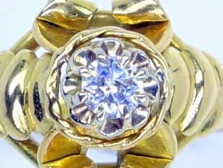 約0.2ctダイヤとリボン【商品番号1122A】c