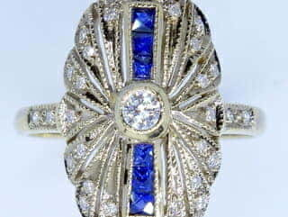 33石ダイヤとカリブレサファイア【商品番号1272a】c