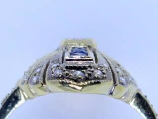 33石ダイヤとカリブレサファイア【商品番号1272a】g