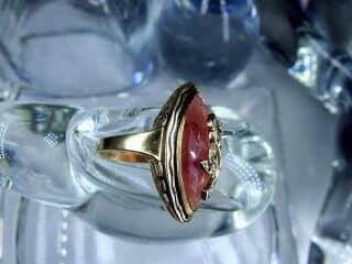 ピンクサファイアとローズカットダイヤ【商品番号1305A】b