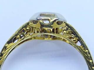オールドヨーロピアンカットダイヤとフィリグリー【商品番号1329a】g