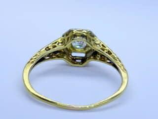 オールドヨーロピアンカットダイヤとフィリグリー【商品番号1329a】h