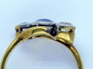 2石オールドカットダイヤとサファイア【商品番号1337A】g