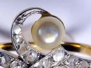 2種のオールドカットダイヤと真珠【商品番号1353A】d