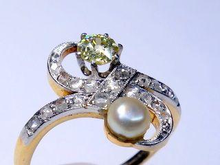 2種のオールドカットダイヤと真珠【商品番号1353A】f
