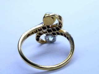 2種のオールドカットダイヤと真珠【商品番号1353A】j