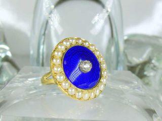 ギロッシュエナメル,オールドダイヤ,真珠【商品番号1972】e
