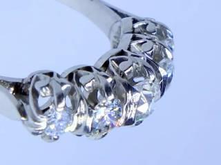 約0.8ct5石のオールドヨーロピアンカットダイヤ(鑑定書付)【商品番号2565】d