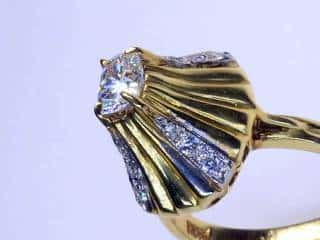 13石のオールドマインカットダイヤ使用(鑑定書付)【商品番号3389】d
