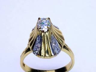 13石のオールドマインカットダイヤ使用(鑑定書付)【商品番号3389】i