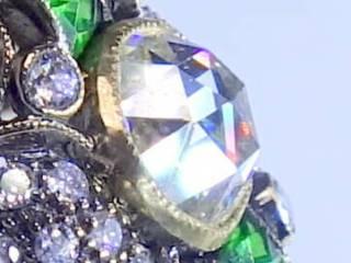 47石ダイヤ(ダッチローズ)8石カリブレエメラルド(鑑定書付)【商品番号4655】c