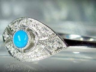 ダイヤとトルコ石を使用した【商品番号506c】d