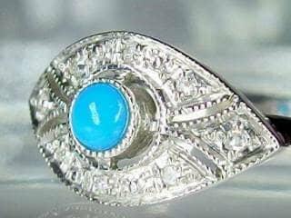 ダイヤとトルコ石を使用した【商品番号506c】h