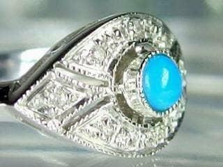 ダイヤとトルコ石を使用した【商品番号506c】i
