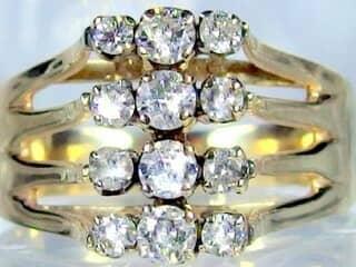 12石ダイヤ,14k【商品番号884b】c