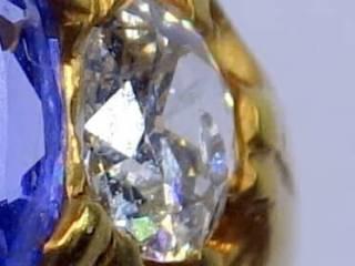 約0.9ctサファイアとオールドカットダイヤ【商品番号r106】a
