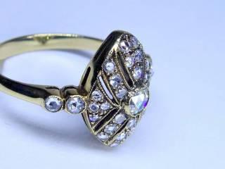 約0.58ct2種のオールドカットダイヤ【商品番号r121】d