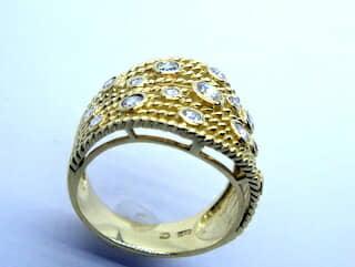 約0.5ct17石のローズカットダイヤ【商品番号r160】f