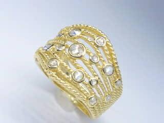 約0.5ct17石のローズカットダイヤ【商品番号r160】g