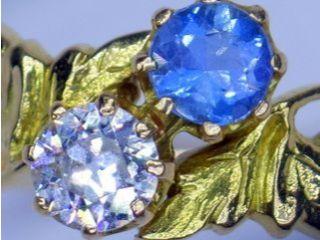 約0.5ctダイヤと約0.42ctアクア(鑑定書付)【商品番号r256】c