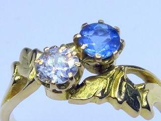 約0.5ctダイヤと約0.42ctアクア(鑑定書付)【商品番号r256】d