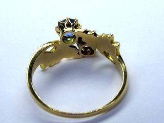 約0.5ctダイヤと約0.42ctアクア(鑑定書付)【商品番号r256】j