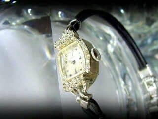 ダイヤと14金ホワイトゴールド使用のハミルトン ( Hamilton )社【商品番号1158A】e