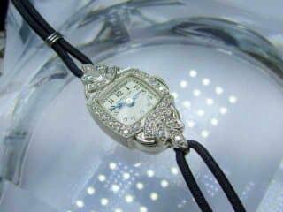 32石のダイヤ使用ハミルトン ( Hamilton )社(鑑定書付)【商品番号2585】d