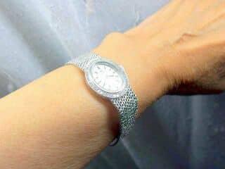 オメガ社の42石のダイヤモンド使用【商品番号4606】d