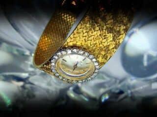 オメガ社製25石ダイヤモンド使用(鑑定書付)【商品番号4633】f