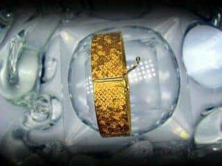オメガ社製25石ダイヤモンド使用(鑑定書付)【商品番号4633】g
